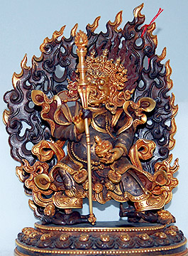 Ref #1395 Tibetan Gilt Bronze Sculpture from our Tibet Art web catalogue